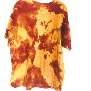 STAFFORD Custom Tie Dye Acid Wash Brown Large
